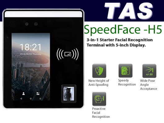Facial Scanner / Reader - SpeedFace H5