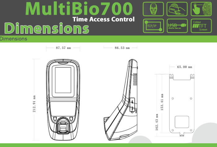 MULTI BIOMETRIC 700 FINGERPRINT & FACIAL READER DEVICE