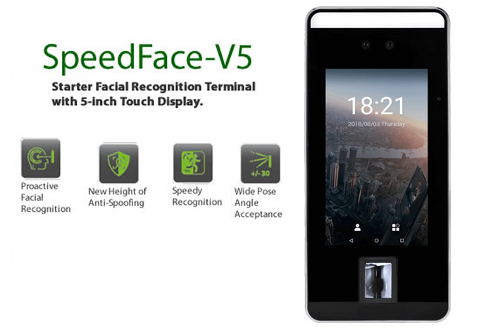 SpeedFace -V5 facial recognition
