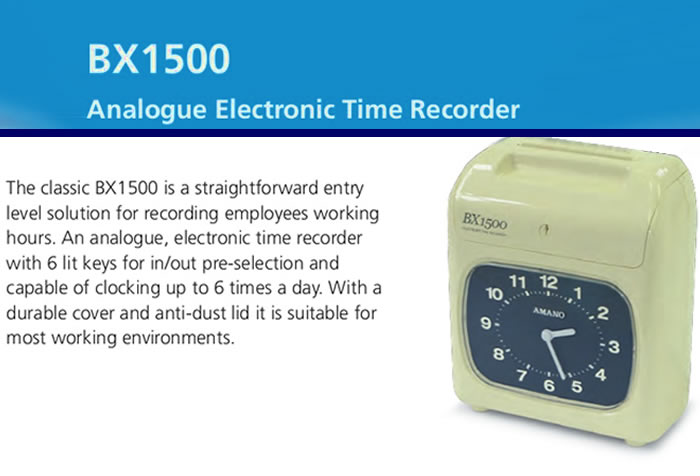 Amano BX-1500 Electronic Time Recorder Product