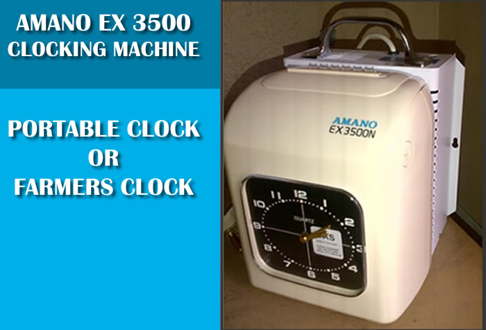 Farmers Clocking system with Attached Battery Pack Product