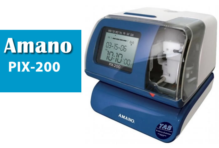 AMANO PIX-200 Electronic Time Clock/Date Stamp Product