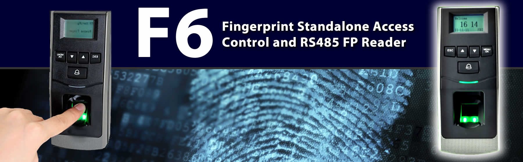F6 biometric Fingerprint reader device