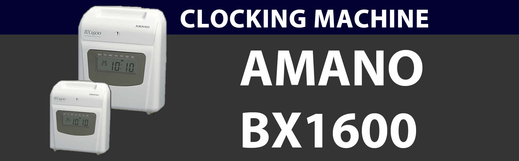 clocking-machine-AMANO BX 1600 Banner