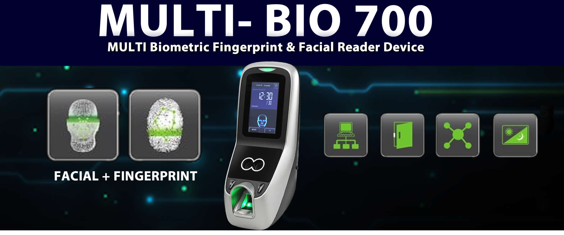 multi biometric Fingerprint reader device