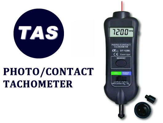 TEST INSTRUMENTATION - PHOTO/CONTACT TACHOMETER